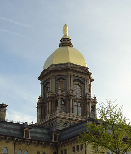 The Golden Dome: Notre Dame Indiana
