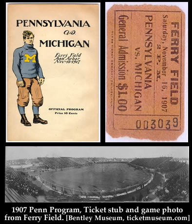 1907 Michigan football vs Penn