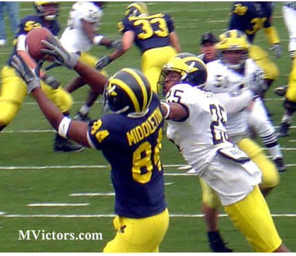 A great TD catch by David Middleton in Michigan Spring Football 2007