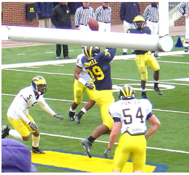 A Drop by #39 Andre Criswell during Michigan Spring Football 2007