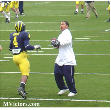 Mike Hart sits out the Michigan Spring Football 2007