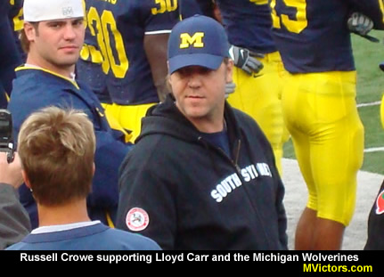 Russell Crowe at Michigan Stadium