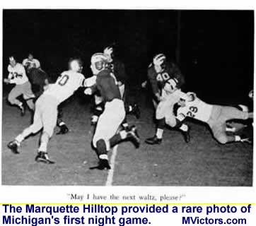 Michigan's first night game vs. Marquette in 1944