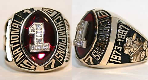 1997 Nebraska National Championship ring