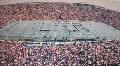 Michigan Marching Band spells UFER