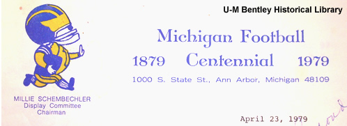 Millie Schembechler, 100th Anniversary Michigan Football