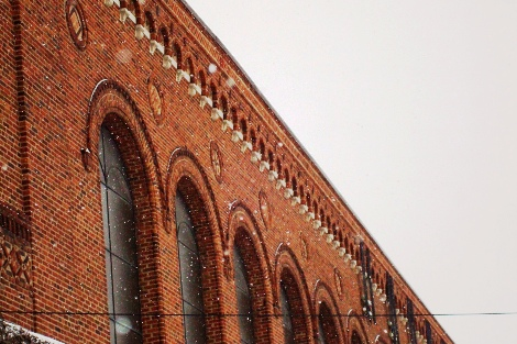 Yost Ice Arena brick damage