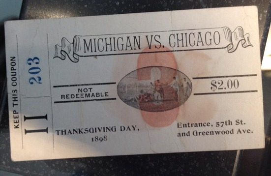 1898 Michigan Chicago - Ticket Stub - Louis Elbel the Victors
