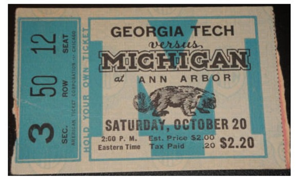 1934 Georgia Tech Michigan