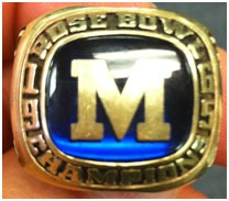 1965 Rose Bowl Ring - Michigan