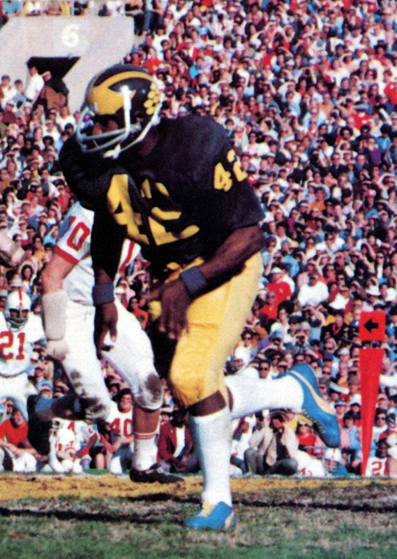 1972 Rose Bowl BillyTaylor - Credit U-M Bentley Historical Library