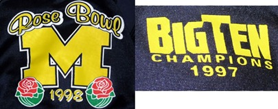 1998 Rose Bowl jersey michigan