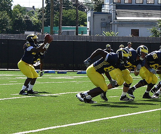 Denard Robinson Taking the Snap