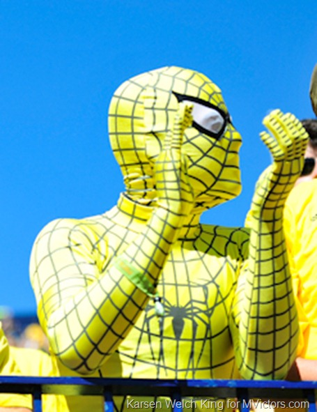 Michigan Maize Spiderman outfit