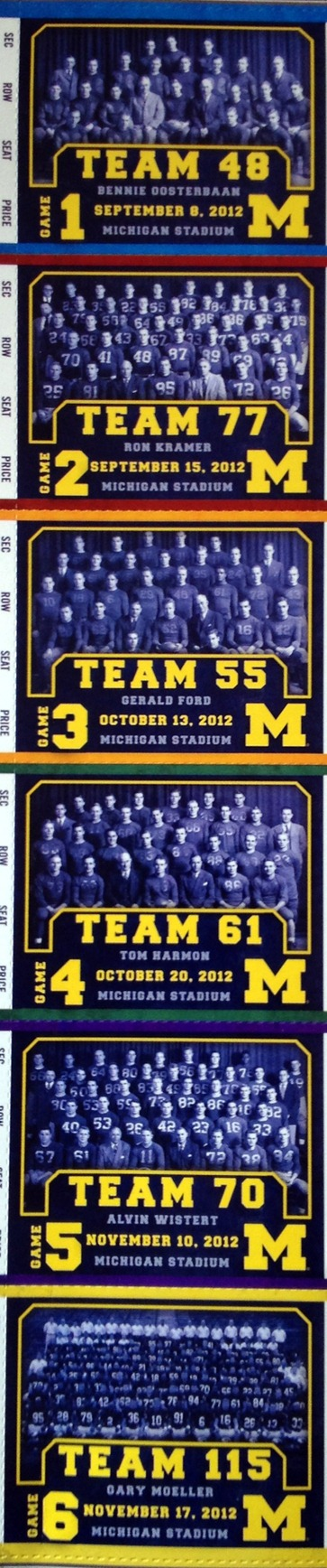 2012 Michigan Season Tickets