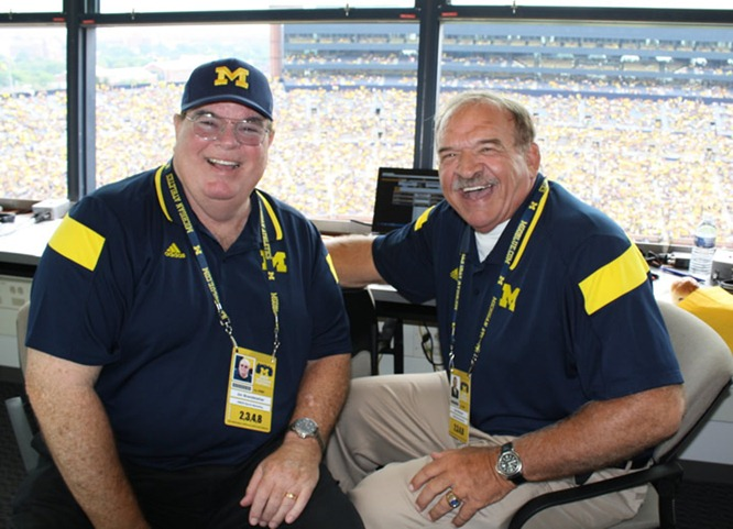 Jim Brandstatter, Dan Dierdorf, Michigan Football radio