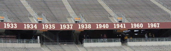 Minnesota football league titles in Stadium