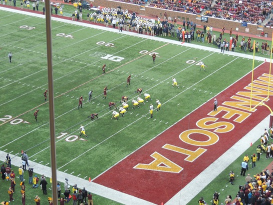 View from TCF Bank Stadium press box