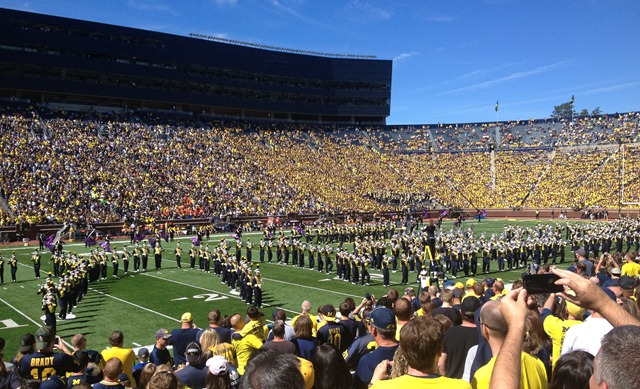 Michigan Band Facing East