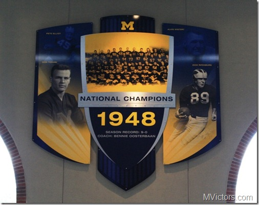 michigan 1948 national champion banner