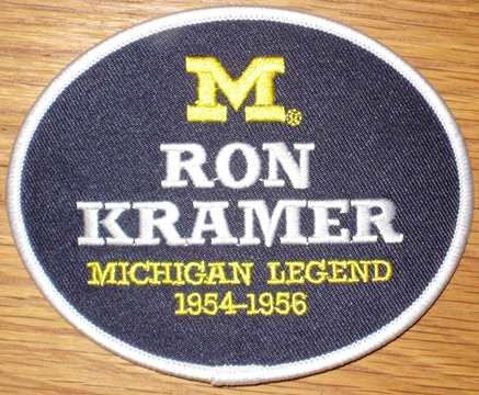 Ron Kramer #87 - Michigan Football Legends Patch