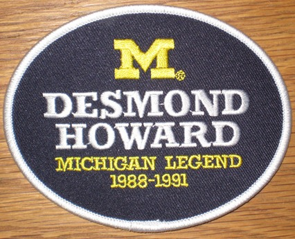 Desmond Howard #21 - Michigan Football Legends Patch
