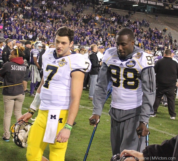 Shane Morris and Devin Gardner