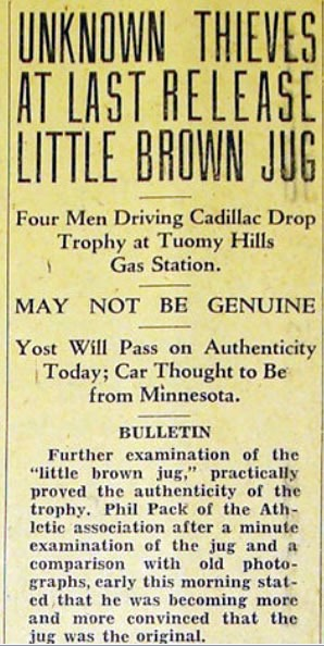 November 20 1931 Michigan Daily Headline