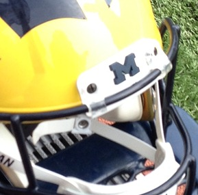 Michigan Football Helmet - Nosebumper