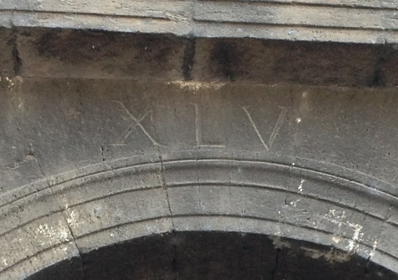 Roman Colosseum Section Numbers XLV