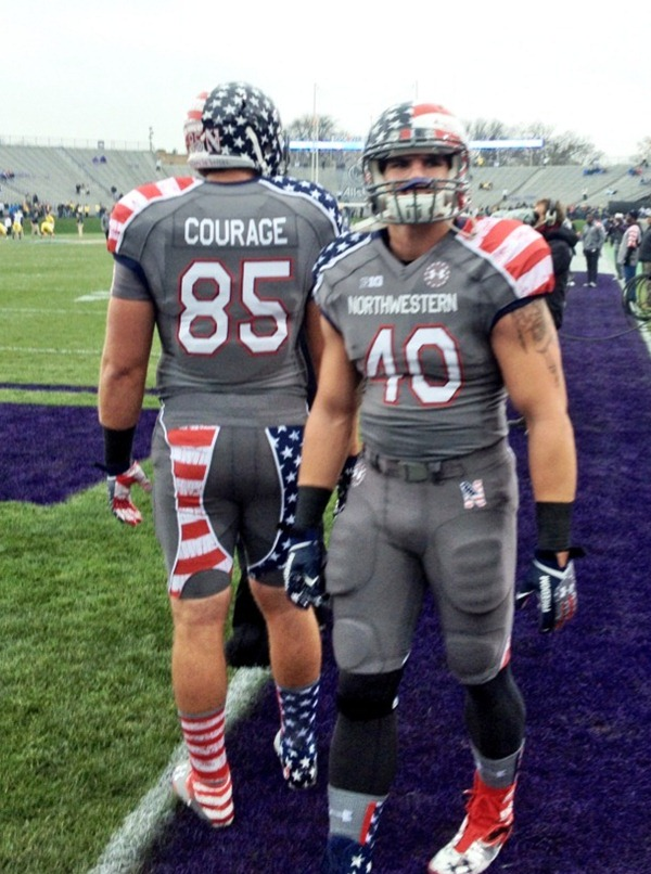 Northwestern Wounded Warrior Uniforms