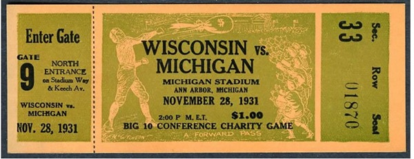 Wisconsin Ticket Stub