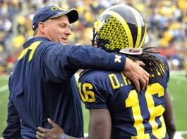 Denard Robinson with Helmet Decals