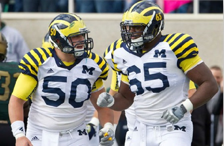 2011 Michigan uniforms vs. Michigan State