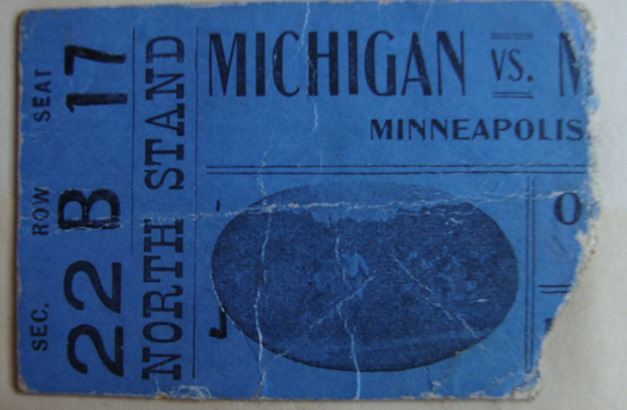 1903 Minnesota-Michigan Ticket Stub