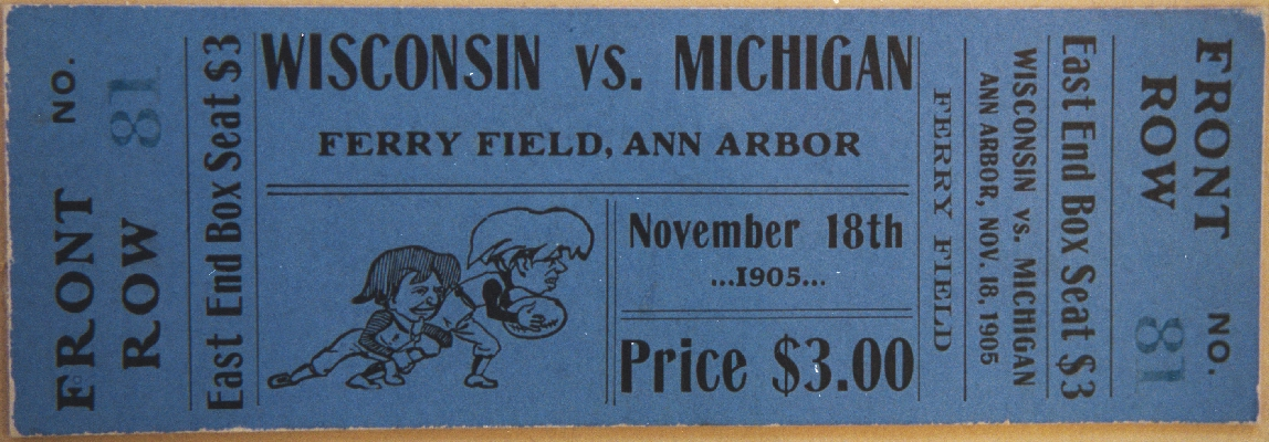1905 Michigan Wisconsin ticket
