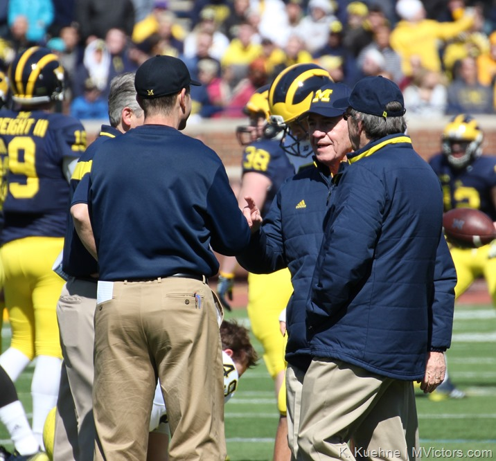 Coaches Moeller, Carr, Harbaugh 2015 Spring Game