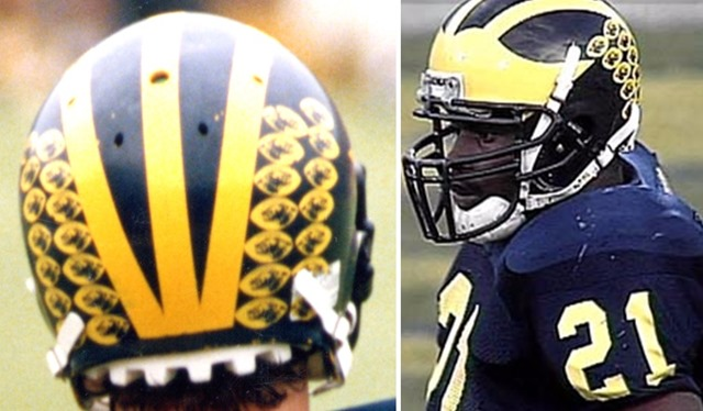 Football Helmet Stickers : Michigan helmet decals mvictors