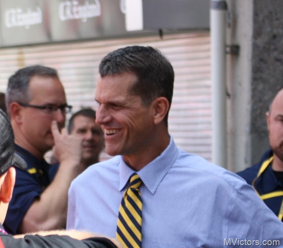 Jim Harbaugh Ann Arbor tie