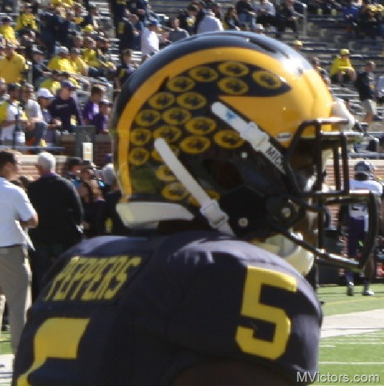 Jabrill Peppers helmet stickers
