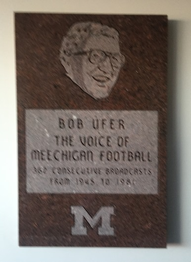 Bob Ufer Plaque at Michigan Stadium