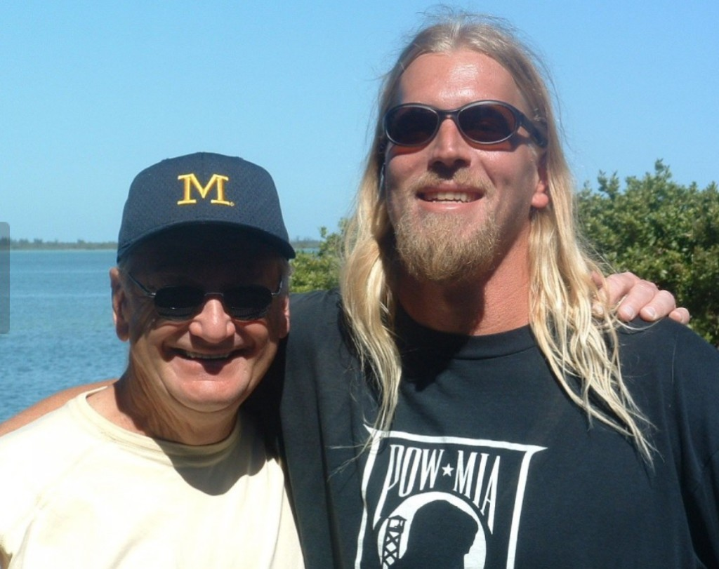 Steve Everitt and Bo Schembechler in 2003 (cleveland.com)