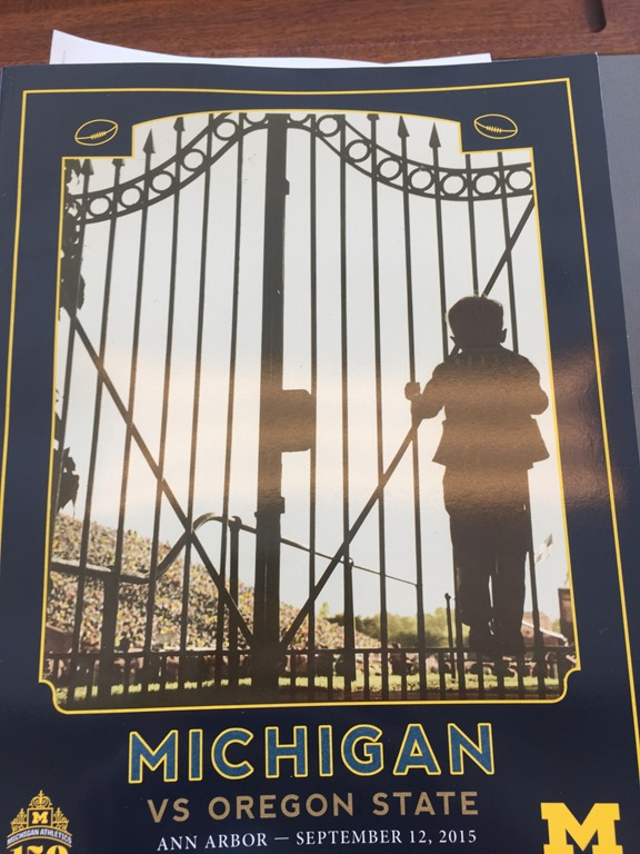 2015 Michigan-Oregon State game program