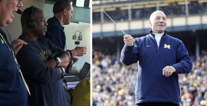LeVar Burton and Patrick Stewart - Michigan Stadium
