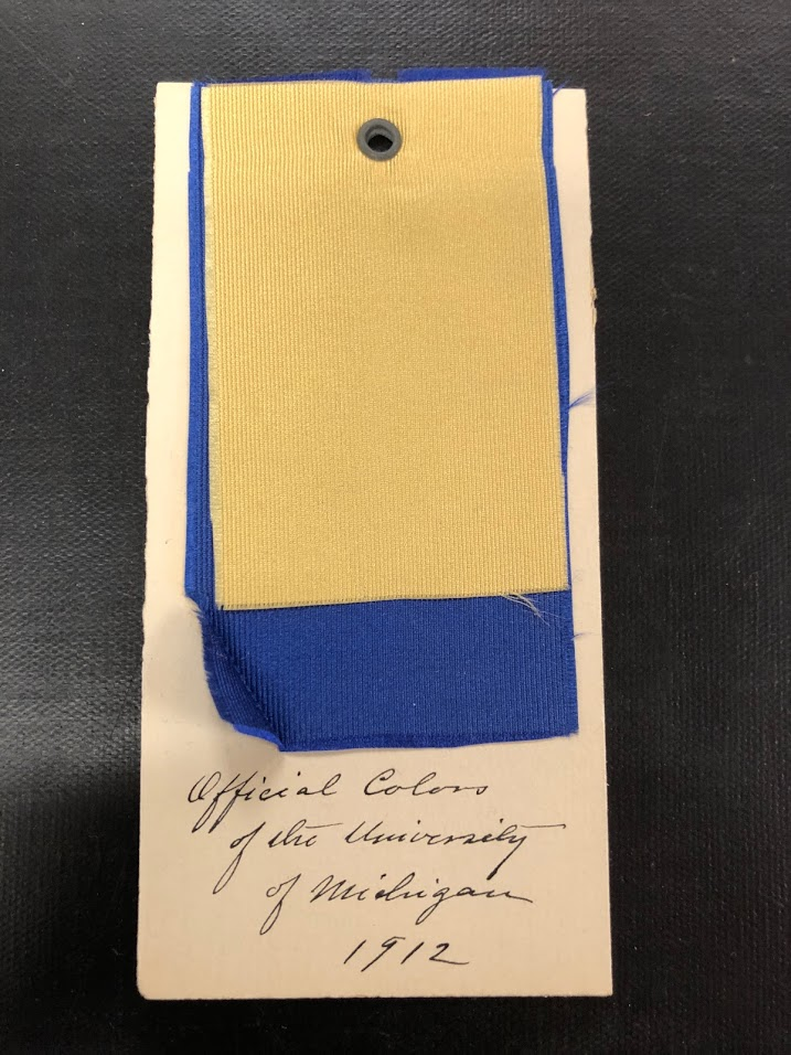 the official colors of the university of michigan 1912 mvictors